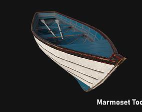 3D asset Woden boat