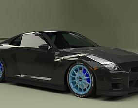 cg Nissan GTR 3D model