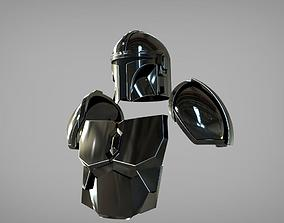 The Mandalorian Beskar steel armor 3D printable model 2