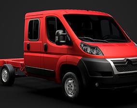 Citroen Jumper Relay Chassis Truck Crew Cab 3D model 2