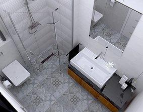 3D model bathroom batch design