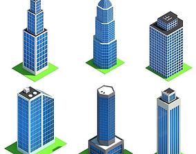 Low Poly Cityscape Pack 3D asset
