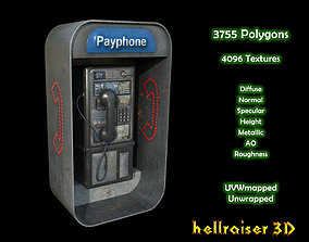 3D model Payphone - PBR - Textured