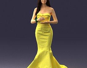 Girl in yellow dress 0151 3D