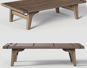 Coffe table 3D model game-ready
