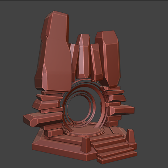 stone portal for game