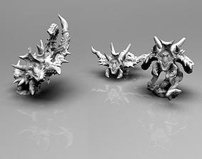 Demonic Screamers 3D print model