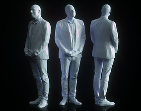 Male Standing Low Poly 3D model