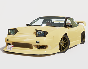 3D Cream Drift S13 240SX Fully Rigged