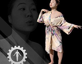 3D model Female Scan - Lily Kimono Costume