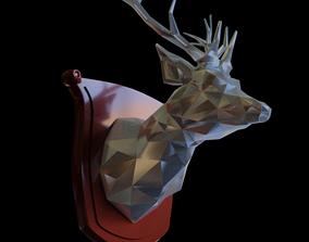 3D print model Polygon Deer Bust