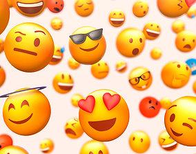 Cartoon Lowpoly Phone Emoji Pack 3D asset