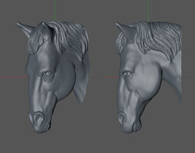 horse head 3D printable model