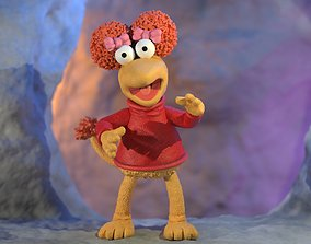 Fraggle Rock Red colored 3D printable model cartoon