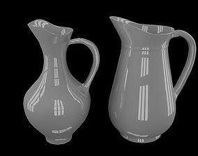 3D White jugs