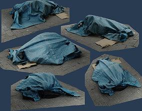 RAW 3D Scan - Rubbish tarp trash burlap canvas 1