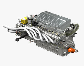 Ferrari 312p V12 Engine - 3 liter 3D model