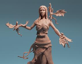 Daenerys Targaryen with dragons 3D print model Game of