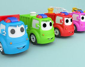 3D Cartoon car construction vehicles