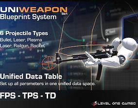 3D asset UniWeapon - FPS TPS Tower Defense Unified Weapon