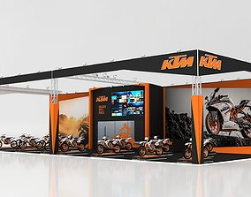Exhibition Stall 25x11m Height 600 cm 3 Side Open 3D