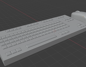 3D print model gadgets keyboard and mouse