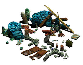 Ancient ruins of the seabed - remains 3D model
