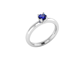 3D printable model Solitaire ring simple small gem