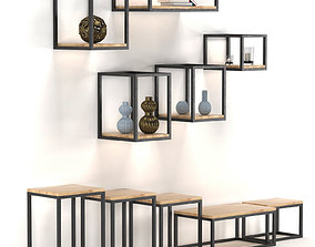 3D asset Shelves on the wall HOFT home of loft Pl 1