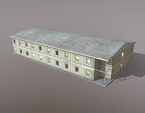 3D asset Building Big barracks