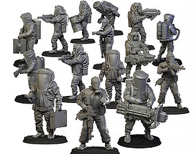 3D print model Biohazard suits set