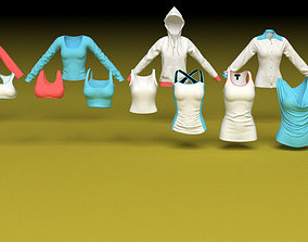 3D model Female clothing shirts and vests and tops