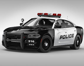 3D Dodge Charger Police 2015
