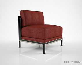 furniture 3D model Holly Hunt Tweed Lounge Chair