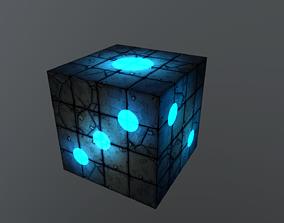 3D asset Dice cube