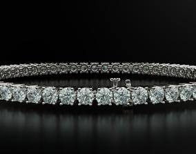 3D print model Tennis bracelet for girls with diamonds 3mm