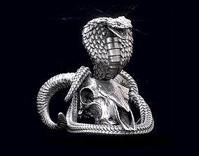 Cobra on the skull 3D print model ram