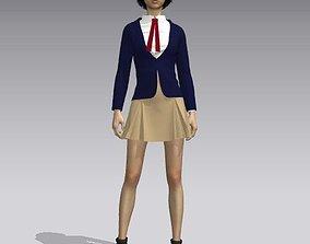 Girl uniform 3D asset