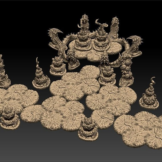 Infestation Tyrant Lair Printable Tabletop Scenery