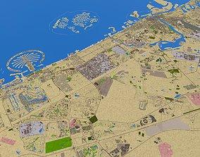 3D asset Dubai Sharjah Ajman Cities Oct 2020