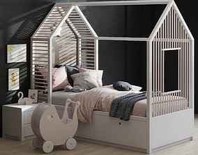 Kids Bedroom set 3D model