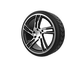 Automotive wheel 3D print model