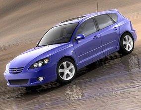 Mazda 3 hatchback 2004 3D model