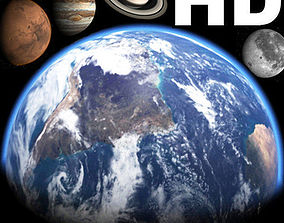 animated Awesome HD Planets - 3d model
