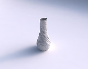 3D printable model Vase curved 2 with twisted rocky bulges