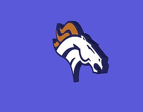3D model Denver Broncos Team Logo