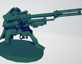 3D printable model Space robot sniper