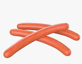3D model dinner Sausage