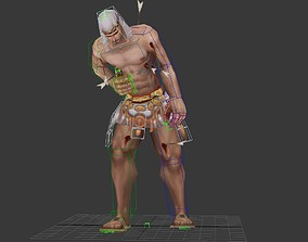 3D asset Injured slave