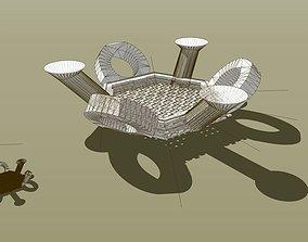 3D print model Hex Chain study